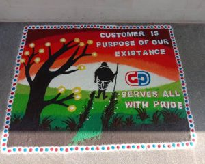 RnD Team Rangoli Grand Polycoats